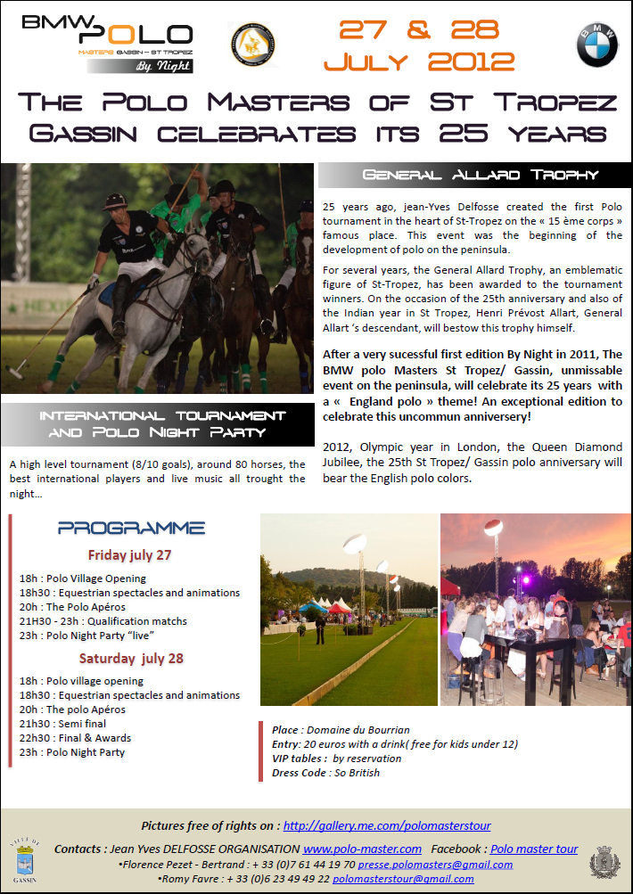 25th anniversary of the BMW Polo Masters Saint-Tropez